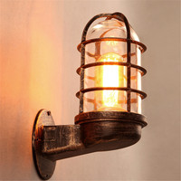 Retro Industrial Wall Light Iron Rustic Lamp Sconce Hallway Patio Lantern Indoor Lighting Bedroom Hallway Restaurant Decoration