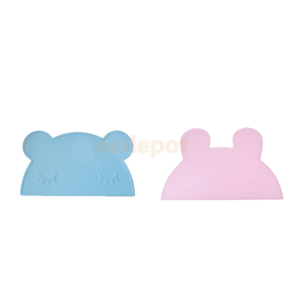 2pcs Silicone Rabbit Baby Feeding Placemat Lumipets Non