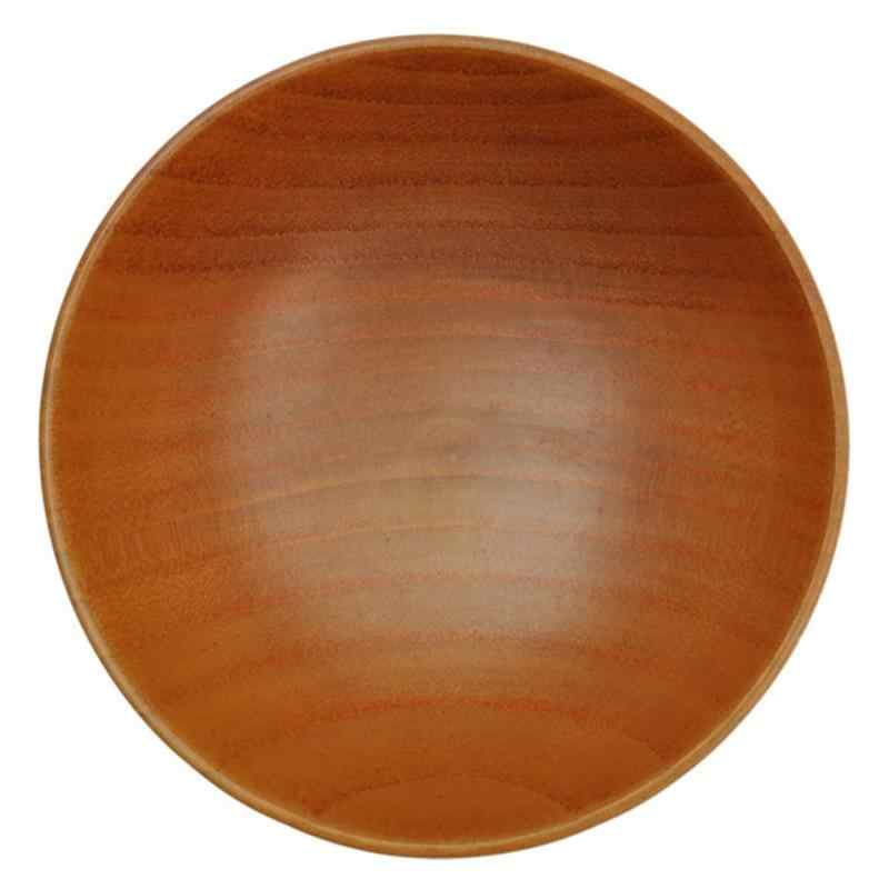 деревянные миски противоскользящие домашние кухонные простые в японском стиле деревянные коричневые миски твердые рисовые деревянные миски для супа