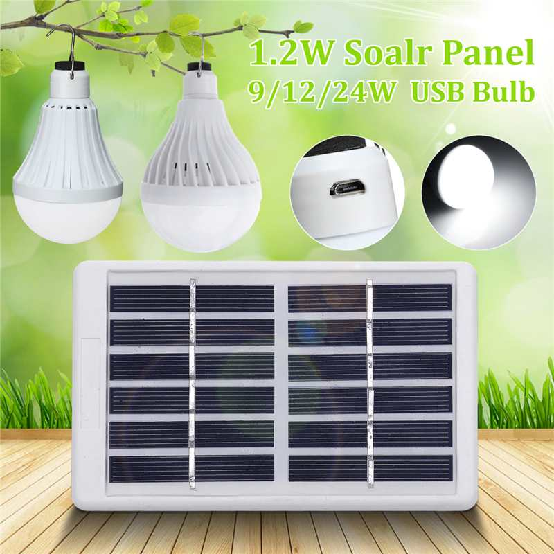 New 9/12/24W Portable USB Solar Power Outdoor LED Bulb Light LED Solar Panel Patio Light Camping Lantern Outdoor Camp LampNew 9/12/24W Portable USB Solar Power Outdoor LED Bulb Light LED Solar Panel Patio Light Camping Lantern Outdoor Camp Lamp