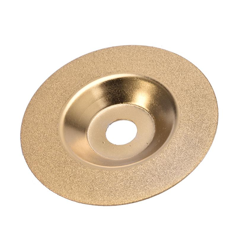 100mm Gold Diamond Titanium Grinding Wheel Saw Circular Cutting Disc Milling Cutter Tool Sharpener Angle Grinder Accessories