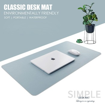 double side portable large mouse pad gamer pu leather mouse pad gaming office desk mat computer mousepad keyboard table cover Double-side Usable Mouse Pad Portable Large Gaming Mousepad Laptop Pad PU Leather Desk Pad Grand Mat Gamer Muismat 60x30 80x40cm