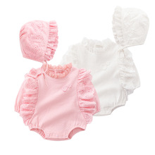 Ruffles Long Sleeve Newborn Baby Girl Clothes Outfits Infant Girls Jumpsuit Clothing Sets Bodysuits + Hats Autumn