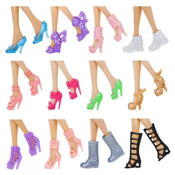 12 par buty dla lalek moda śliczne kolorowe sandały na wysokim obcasie akcesoria buty dla barbie lalka różne style wysokiej jakości zabawki tanie i dobre opinie BJDBUS Z tworzywa sztucznego CN (pochodzenie) Fit for 11 5 in -12 in (30cm) doll Dziewczyny Styl życia CHOKING HAZARD -- Small parts Not for children under 3 yrs