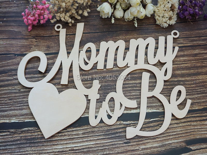 Us 12 74 15 Off Baby Shower Chair Sign Mommy To Be Wooden Cutout For Baby Shower Decoration For New Mommy Baby Shower Decor In Party Diy Decorations