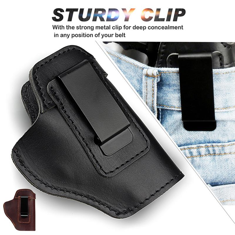 Leather IWB Concealed Carry Gun Holster For Glock 17 19 Sig Sauer Sig Sauer P226 P220 P229 P239 <font><b>P250</b></font> Holster Glock Accessories image