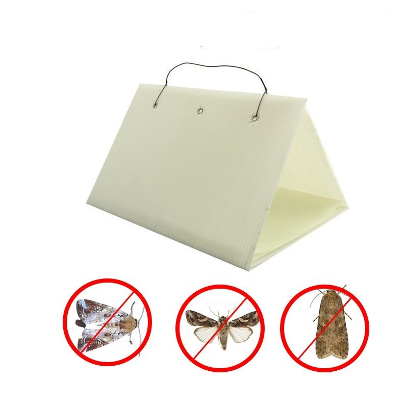 1pc Moth Pest Trap Delta Moth Pheromone Lure Insect Catch Kill Adhesive Non-toxic Glue Traps Home Fruit Farm Garden Repeller