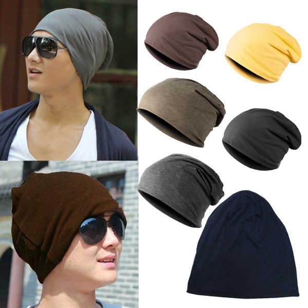 eb4eb36d5f5 Women Men Unisex Knitted Winter Cap Casual Beanies Solid Color Hip-hop Snap  Slouch Skullies