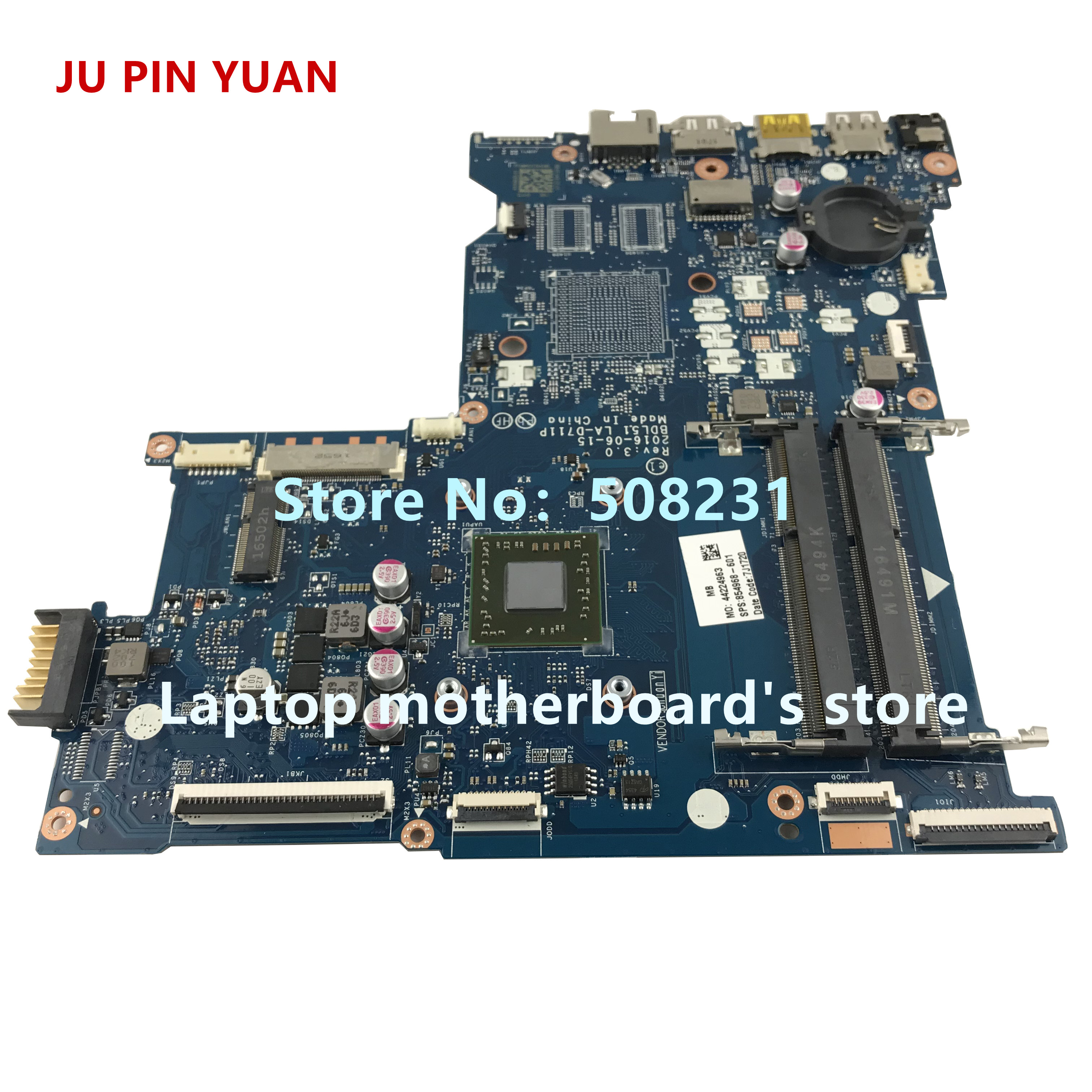 Image 4 - JU PIN YUAN 854968 001 mainboard 854968 601 for HP NOTEBOOK 15 BA 15Z BA 15 ba060nf laptop motherboard  BDL51 LA D711P E2 7110-in Laptop Motherboard from Computer & Office on