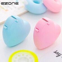 EZONE Candy Color Masking Tape Cutter Design Of Love Heart/Donut Shape Sticker Tape Cutter Office Tape Dispenser School Supply