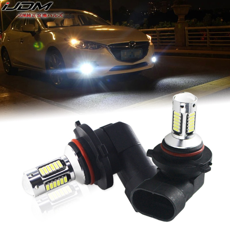 IJDM H11 H8 H16 LED Car Fog Bulbs HB3/9005 9006/HB4 H27 880 881 H3 H1 High Power H7 LED Cars White Red Blue Ice Blue Lamp 12V