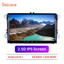 "Seicane Android 8.1 Car Multimedia player Para VW/Volkswagen/Golf/Polo/Tiguan/Passat/b7 /b6/SEAT/leon/Skoda/Octavia 9 ""2DIN GPS(China)"