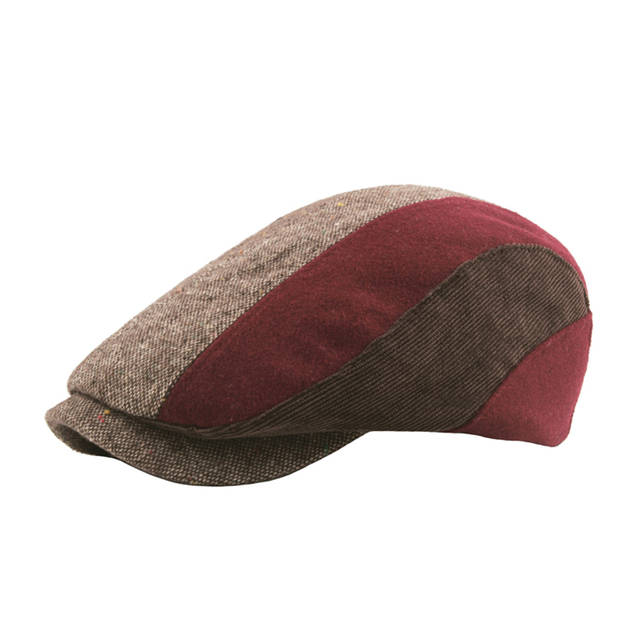 c1746f9ed Vintage Plaid Striped Beret Cap Newsboy Cap Men Winter Wool Ivy Hat Berets  Golf Driving Cabbie Flat Hats Male Classic Gatsby Hat
