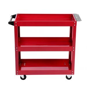 Image 5 - 3 Tier Storage Shelves Tools Cart with 360 Degree Free Rotation Wheels for Workshop Garage Use