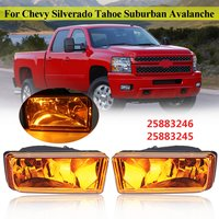2pcs 12V 27W Car Left and Right Bumper Fog Light Lamp Amber For Suburban Avalanche For Chevy for Silverado 1500 2500 for Tahoe