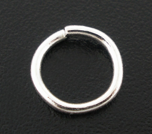 50 pcs Silver plated Open Jump Ring Connector 8x1mm jewelry findings DIY