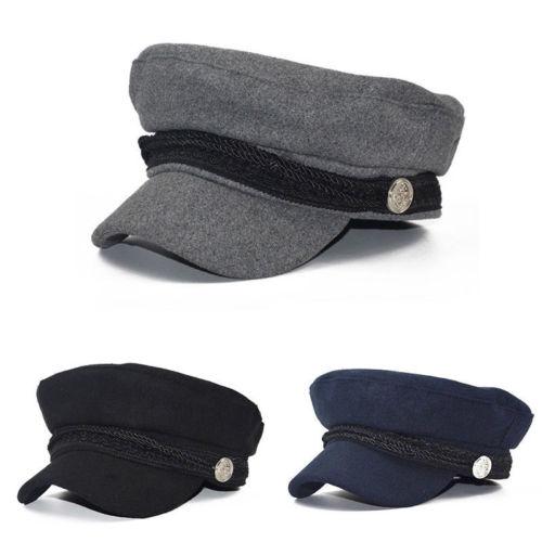 Ladies Womens Girls Wool Blend Baker Boy Peaked Cap Newsboy Octagonal Hats Travel