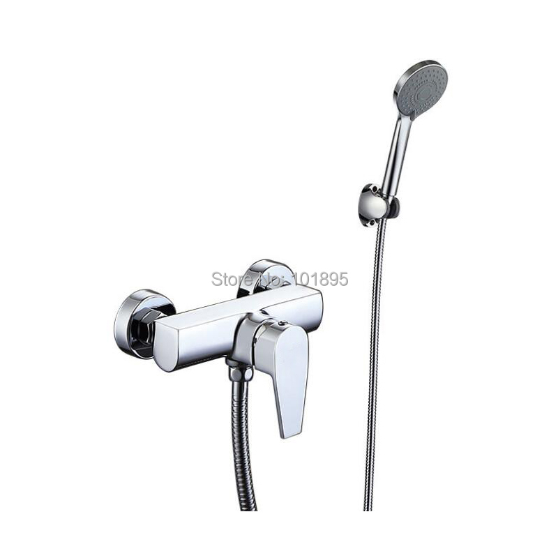 Chrome Plated Brass Material Cold & Hot Water Bath Faucet with ShowerChrome Plated Brass Material Cold & Hot Water Bath Faucet with Shower