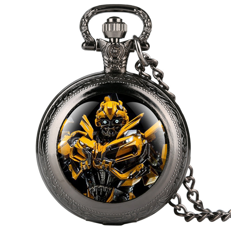 Pokemon Personalized Boy's Pocket Watch Unique Cartoon Pattern Quartz Pocket Watches For Kids Creative Gift Necklace Pocket Wat