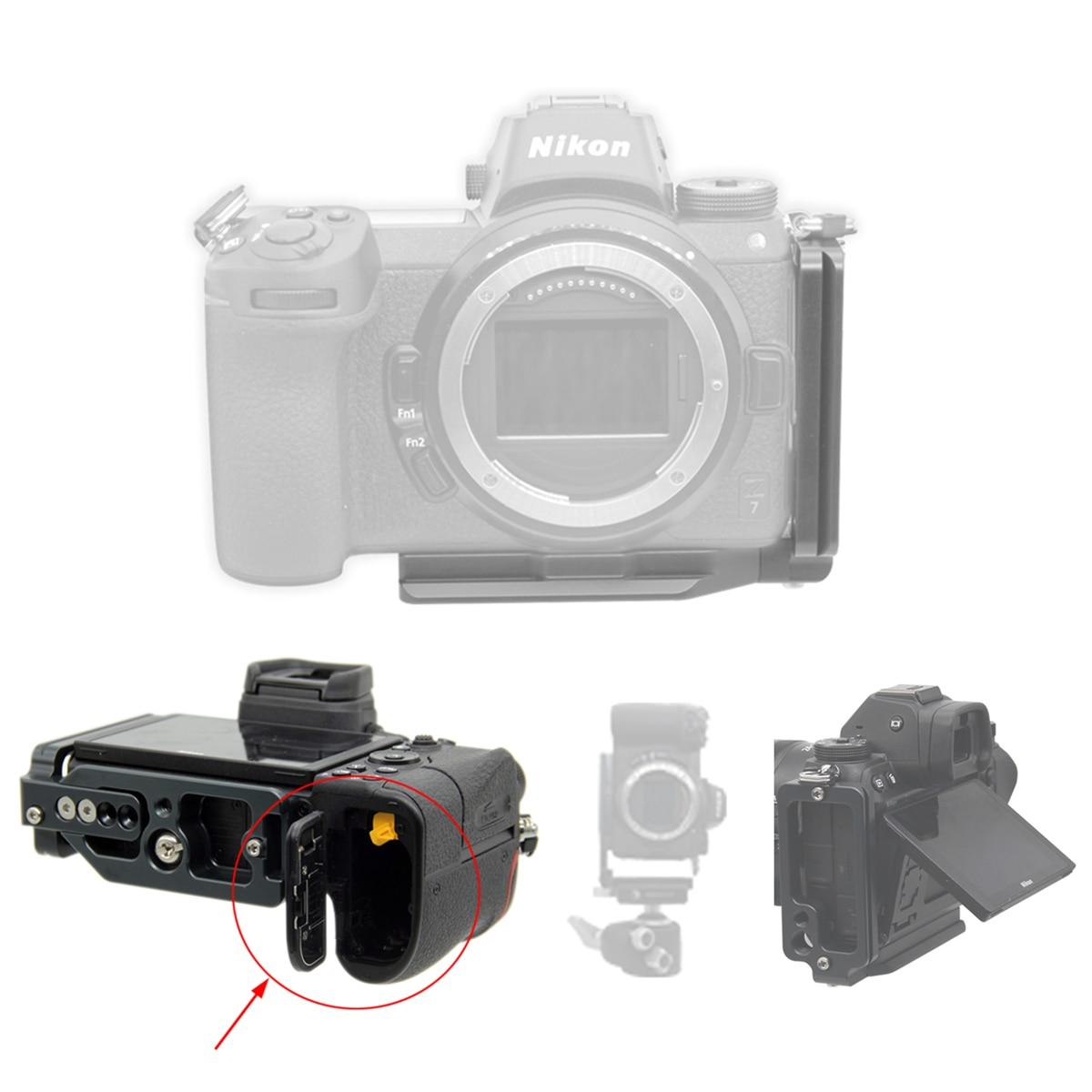 Extensible L-Forme Vertical Quick Release Trépied L Plaque Support pour Nikon Z7 Z6 Z 7 Z 6 Caméra
