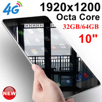 KUHENGAO Updated 10 Octa Core 10 inch card Tablet Pc 4G LTE call phone mobile 4G the android tablet pc 32/64GB IPS 1920*12
