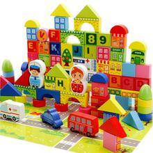160pcs Children Wooden Building Blocks City Traffic Scene Education Learning Toys Children Gifts цена в Москве и Питере