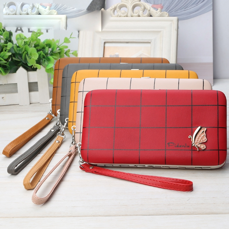Multifunctional Korean Version Coin Purse Butterfly Lunch Box Bag Ladies Wallet Long Pencil Case Mobile Phone