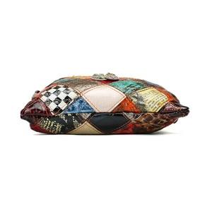 Image 4 - AEQUEEN Kleurrijke Schoudertassen Voor Vrouwen Messenger Bag Patchwork Kleine Flap Tassen Design Crossbody Bolsas Feminina Heldere Kleur