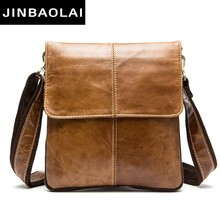 JINBAOLAI Messenger Bag Men Shoulder Bag Genuine Leather Small Male Man Crossbody Bags For Messenger Men Leather Bags Handbags цена в Москве и Питере