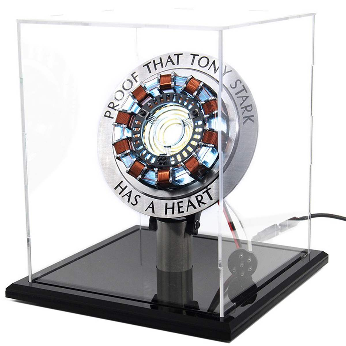 Free Fast Shipping 1:1 Scale Arc Reactor Need To Assemble Reactor Diameter Of 8cm With LED Light Action With English Manual MK1
