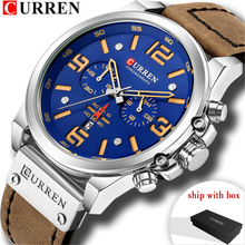 цены CURREN 8314 Watches Men Relogio Masculino Luxury Leather Strap Wristwatch Quartz Men Watch Casual Sport Male Clock Ship With Box