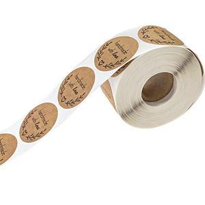 500 листов/рулон, круглые этикетки, ручная работа, крафт-бумага, упаковочная наклейка для конфетных пакетов, Подарочная коробка, Упаковочная Сумка, свадебные наклейки, спасибо