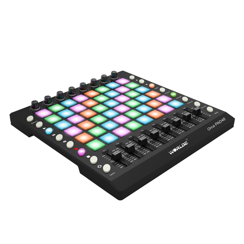 Alibaba グループ 上の Midi コントローラーディスク楽器 WORLDE オルカ PAD48 ポータブル Midi コントローラーキーボード 48 ドラムパッドと USB ケーブル 1