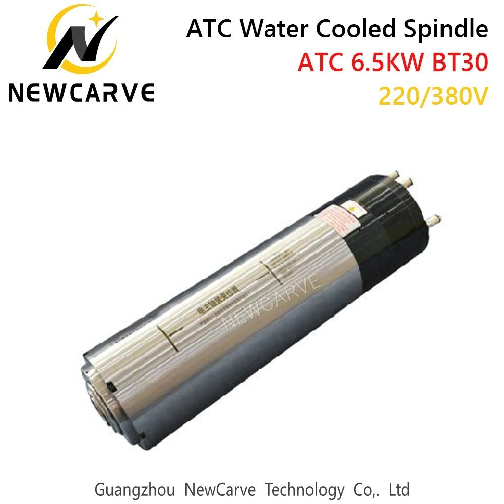 Купить с кэшбэком ATC Spindle 6.5kw 380V 24000rpm Water Cooled Automatic Tool Change Spindle For Metal Cutting With BT30  NEWCARVE