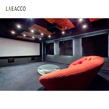 Laeacco Sofa Cinema Screen Backdrop Portrait Photography Background Customized Photographic Backdrops For Photo Studio