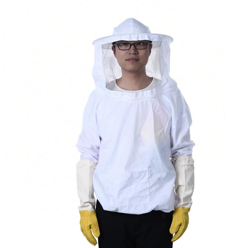 Beekeeping Clothes Storage Pocket Anti-bee Clothing Siamesed Head Mask of Upper Outer Garment for Anti bee suit #SWBeekeeping Clothes Storage Pocket Anti-bee Clothing Siamesed Head Mask of Upper Outer Garment for Anti bee suit #SW