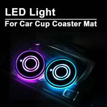 Lovely Onever 2pcs Universal Led Car Cup Holder Bottom Pad Mat Led Light Cover Trim Atmosphere Lamp Lights Automobiles & Motorcycles