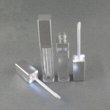 LED Acrílico Tubo Lipgloss 8 ml Prata Esmalte Lábio Tubo Com Espelho Lipgloss Lip Gloss Tubo de Acrílico Com Luz LED embalagem 30 pcs