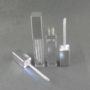 LED Acrylic Lipgloss Tube 8ml Silver Lip Glaze Tube With Mirror Acrylic Lip Gloss Tube With LED Light Lipgloss Packaging 30pcs - DISCOUNT ITEM  30% OFF All Category