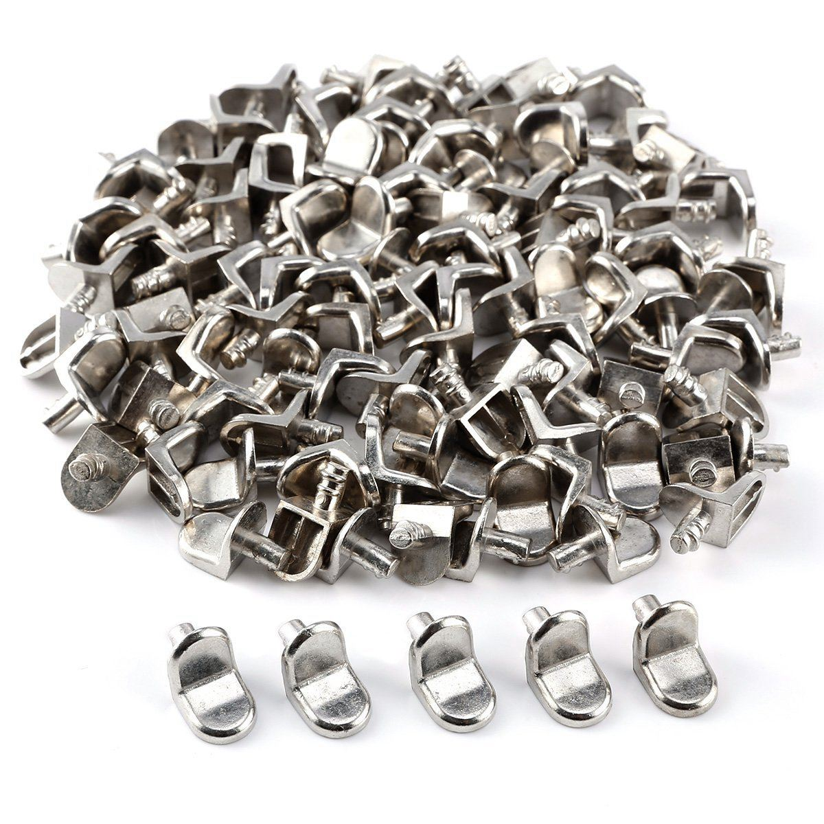 100pcs Claws Holder Cleats Shelves Holder For Plate Glass Panel Or Wood Kitchen Cupboard