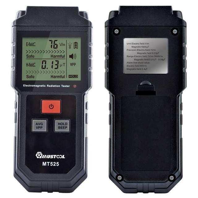MUSTOOL MT525 radiación electromagnética de campo eléctrico escudo Detector probador de FEM LCD para teléfono de la computadora