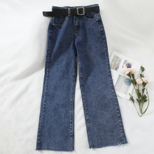 Spring Autumn Women High Waist Jeans Vintage Boyfriend  Style Straight Quality Cowboy Denim Pants