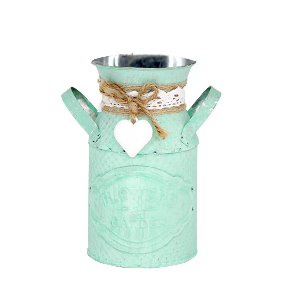 Rétro cylindrique pot de fleurs salon personnalisé fleur planteur dames boutique pastorale ornement fer artisanat décoration Maison