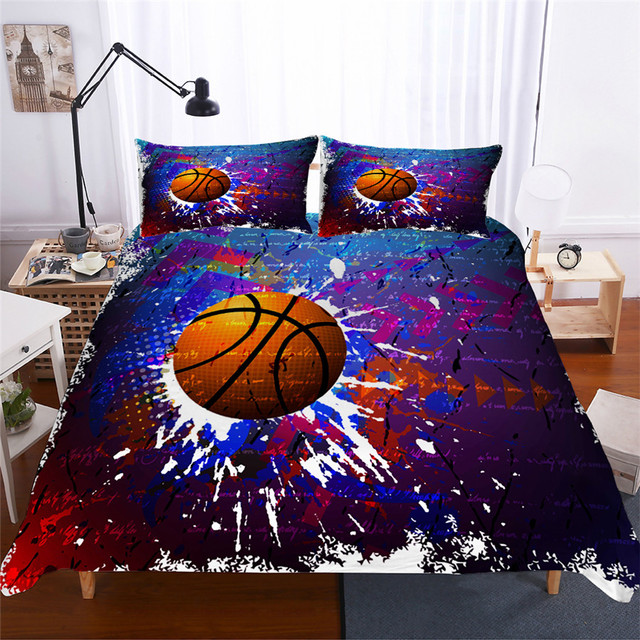 Bedding Set 3D Printed Duvet Cover Bed Set Basketball Home Textiles for Adults Lifelike Bedclothes with Pillowcase #LQ05