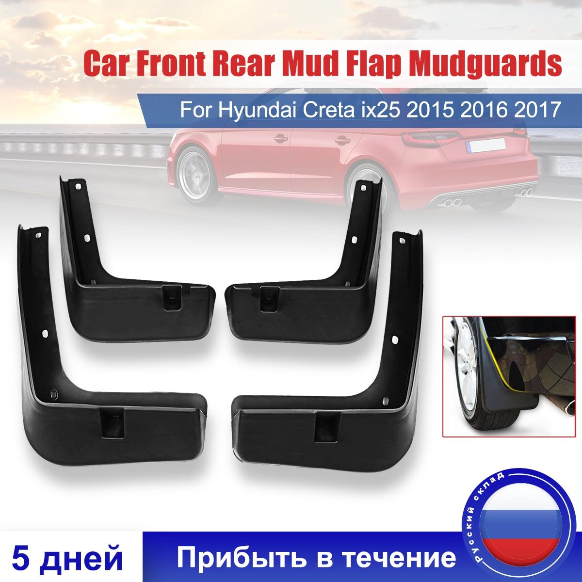 4Pcs Front Rear Splash Guard Mudguards For Mitsubishi Outlander 2016 2017 2018