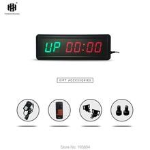 1.5inch 6 digit LED Timer Boxing GYM Crossfit tabata EMOM interval Programmable Countdown/UP stopwath Real time clock 220v 1 8 programmable clock led interval timer big stopwatch home gym fitness clock desk decor eu plug multi function clock