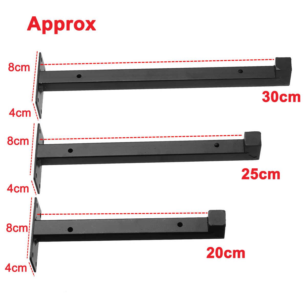2pcs 벽 마운트 선반 브래킷 헤비 듀티 산업용 철 발판 보드 플로팅 브래킷 가구 20 cm/25 cm/30 cm