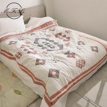 150*200cm Cotton Towel Cloth Geometric Blankets for Beds Indians Air Condition Summer Quilt Plaids Bed Cover cobijas para cama