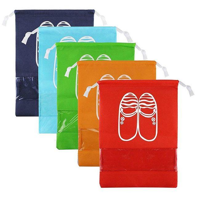 5 PCS Sapatos de Viagem Saco de Acabamento Saco de Armazenamento Sapatos Saco Anti-Poeira Bolsa (L)