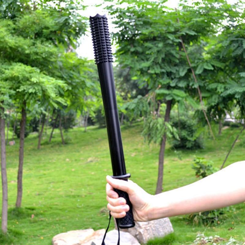 Baseball Bat LED Flashlight Telescopic Zoom Wide Angle Charging Long-range Super Bright Baton Torch For Emergency Self Defense